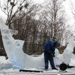 Rzeźba wykuta w lodzie