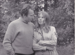 Rysiek Jankowski ze starszą córką Joanną w Boszkowie pod Lesznem.