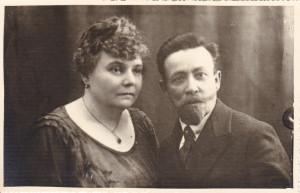 Dziadek Jan Majchofer z żoną