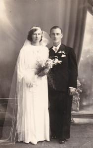 Zofia Józefowicz z domu Miąsek, z mężem Edwardem. Zofia Józefowicz (1914 - 1976 )