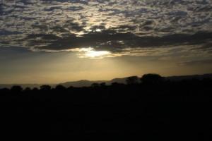 Na osłodę, pod koniec dnia, oglądaliśmy nasz pierwszy afrykański zachód słońca.