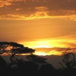 Kenijski zachód słońca.