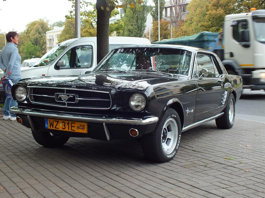 Ten Ford Mustang, wydaje mi się, że jeździć zaczął po amerykańskich drogach w 1965 (1964?) roku.