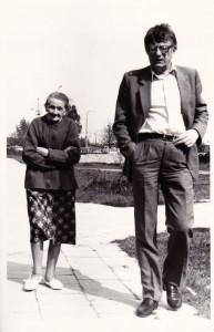 Ciocia Andzia ze swym jedynym synem Ryszardem Miąskiem zwanym w rodzinie Mirkiem.