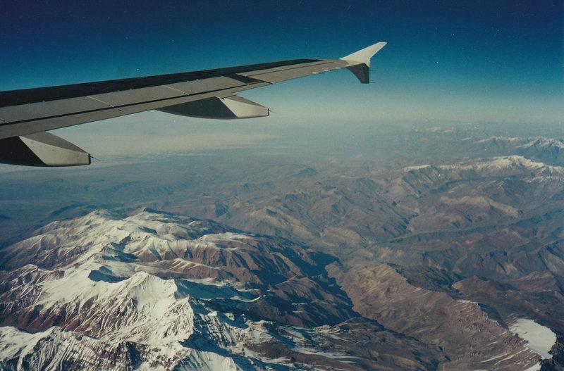 Przelot nad Andami. Z Chile do Argentyny. Ameryka Południowa.