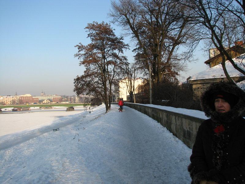 Wigilia w Krakowie zimą 2010 roku. Śnieg i mróz.