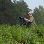 Zaczajony na ptaki na brzegu Drwęcy. Ja widziałam perkozy, bociany, pliszki, czaple, dzięcioła, kukułkę i oczywiście kaczki i łabędzie.