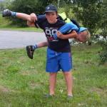 Franek-judoka, a zarazem syn Wojtka i Basi, trenuje przed przenoskami w latach przyszłych.