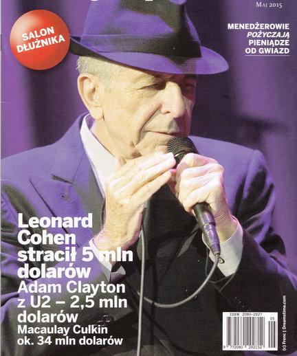 """Leonarda Cohena poznałam dzięki Józkowi. Ojcu moich synów. Józek wszystko wiedział lepiej ode mnie, więcej rozumiał, był do przodu, a przecież ja nigdy nie byłam blondynką. Pamiętam stary, z demobilu, czarnobiały (innych jeszcze w Polsce nie było) telewizor w wynajmowanej przez nas suterenie na ulicy Kasztelańskiej w Krakowie (myszy biegały po korytarzu, dzielącym nas od zimnej ubikacji) i teledysk z facetem w prochowcu tuż nad morzem (ktoś mi przypomni o jaką piosenkę chodzi?). Od tego czasu Cohena wpisałam na listę moich miłości. Będzie na niej do końca mojego życia. Na szczęście byłam na jego koncercie wczesną jesienią 2008 roku na Torwarze. Po tym jak jego menadżerka zdefraudowała jego wszystkie, kilkumilionowe ( w dolarach amerykańskich) oszczędności. Był po siedemdziesiątce, miał jak zwykle świetny chórek i dużo żartował między mało śmiesznymi swoimi utworami. Np. mówił, że już wszystko brał w życiu, kobiety, leki na to i tamto, a ostatnio viagrę. Gdy robiłam miesięcznik """"Eurogospodarka"""" przy pierwszej okazji dałam na okładkę Leonarda Cohena. Numer poszedł na przemiał z zupełnie innego powodu, ale to też zupełnie inna historia. Umarł jeden z mężczyzn, których kochałam i będę kochać."""
